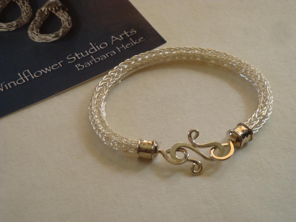 Barbara Heike's Viking knit jewelry.