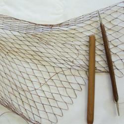 Diamond mesh netting with Donna Kallner.