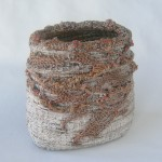 Coiled willow, looping, gesso by Donna Kallner