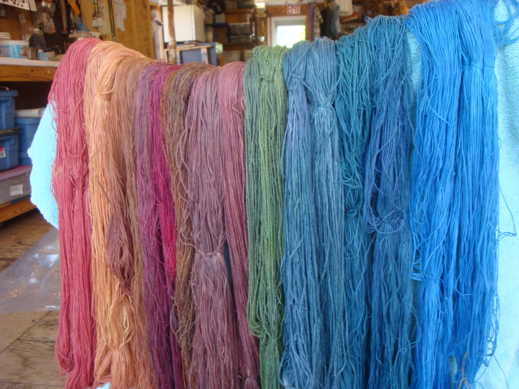Hand-dyed cotton theads for New Age Looping kits on Etsy.