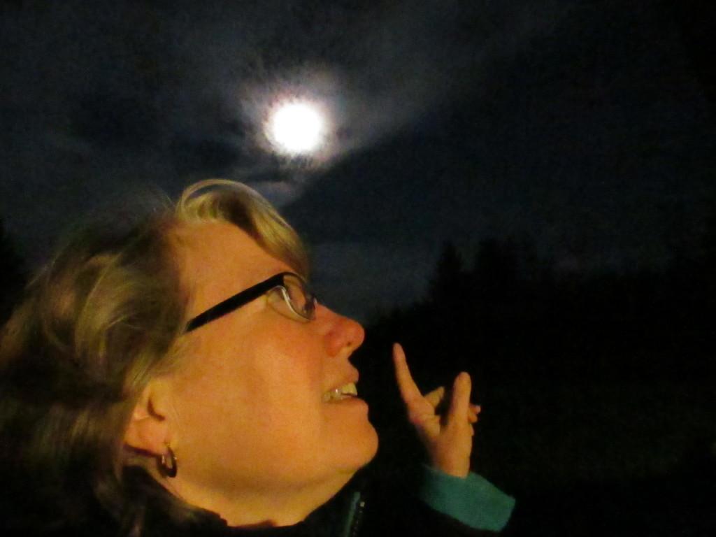 Moonlight selfies at Sievers.
