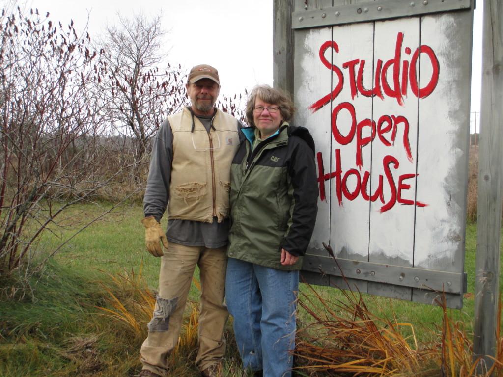 Artists Bill & Donna Kallner prepare for studio sale.