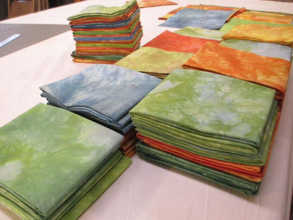 Hand-dyed quilting fabric by Donna Kallner.