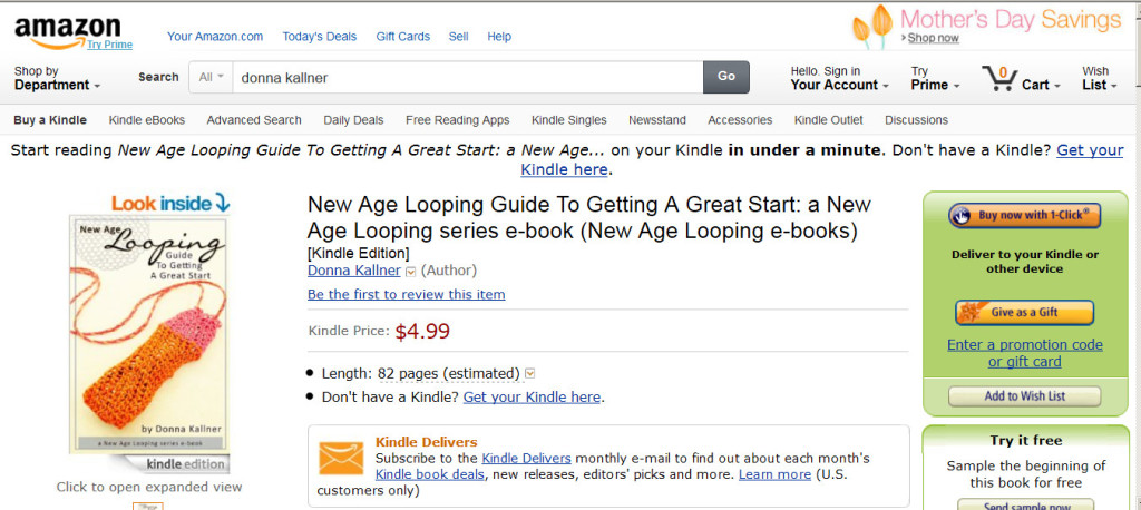 I'm now an Amazon Author.