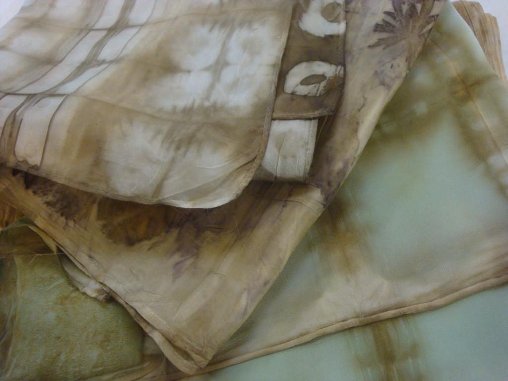 Natural dye scarves by Donna Kallner.
