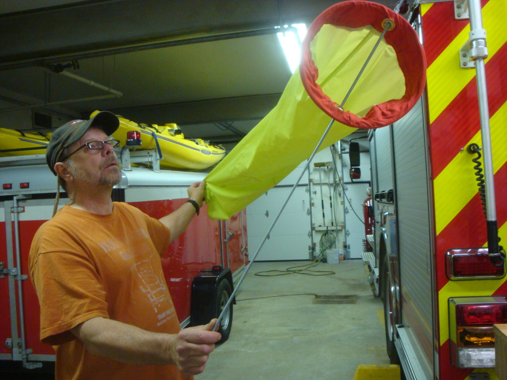 Wind sock for fire department.
