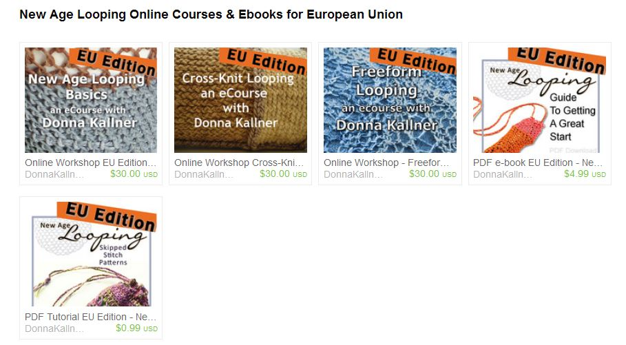 Looping online classes and ebooks for buyers in the European Union.