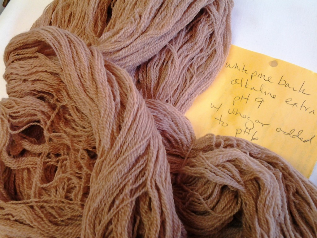 Natural dye made from white pine bark.