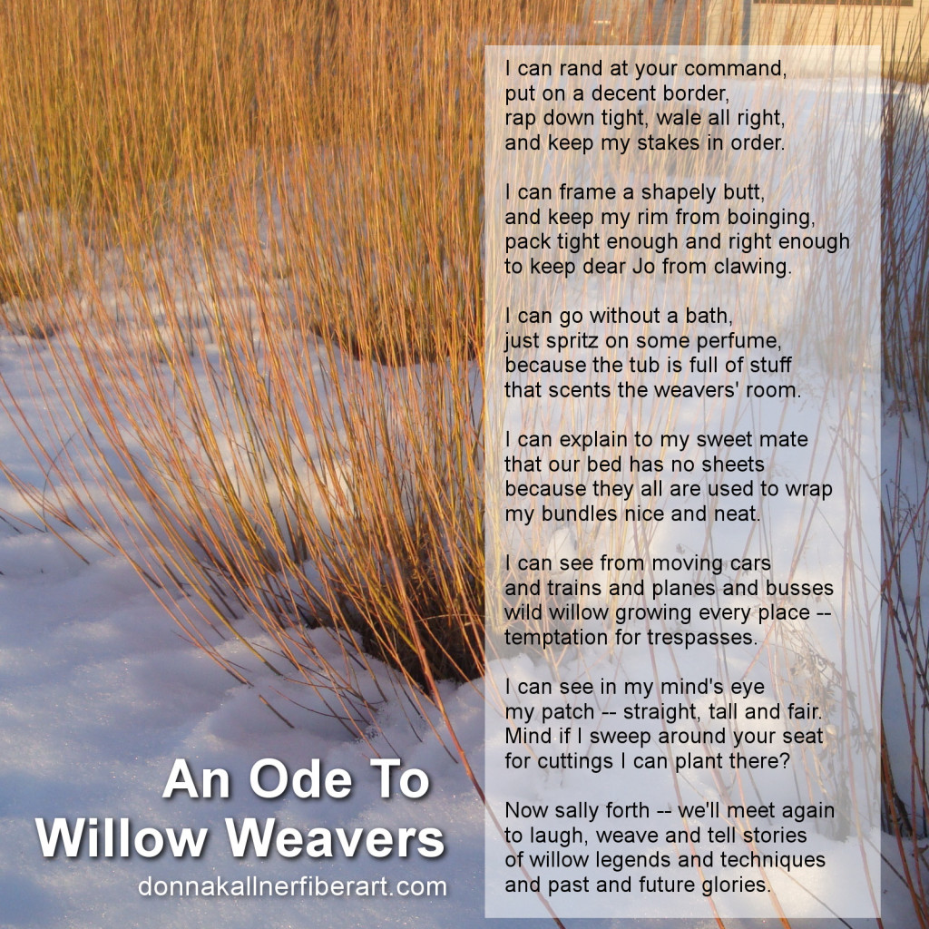 Ode to willow weavers poem.