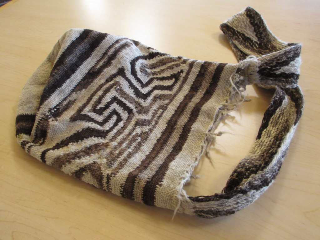 Looped bag from April Winchell, possibly Quechua.
