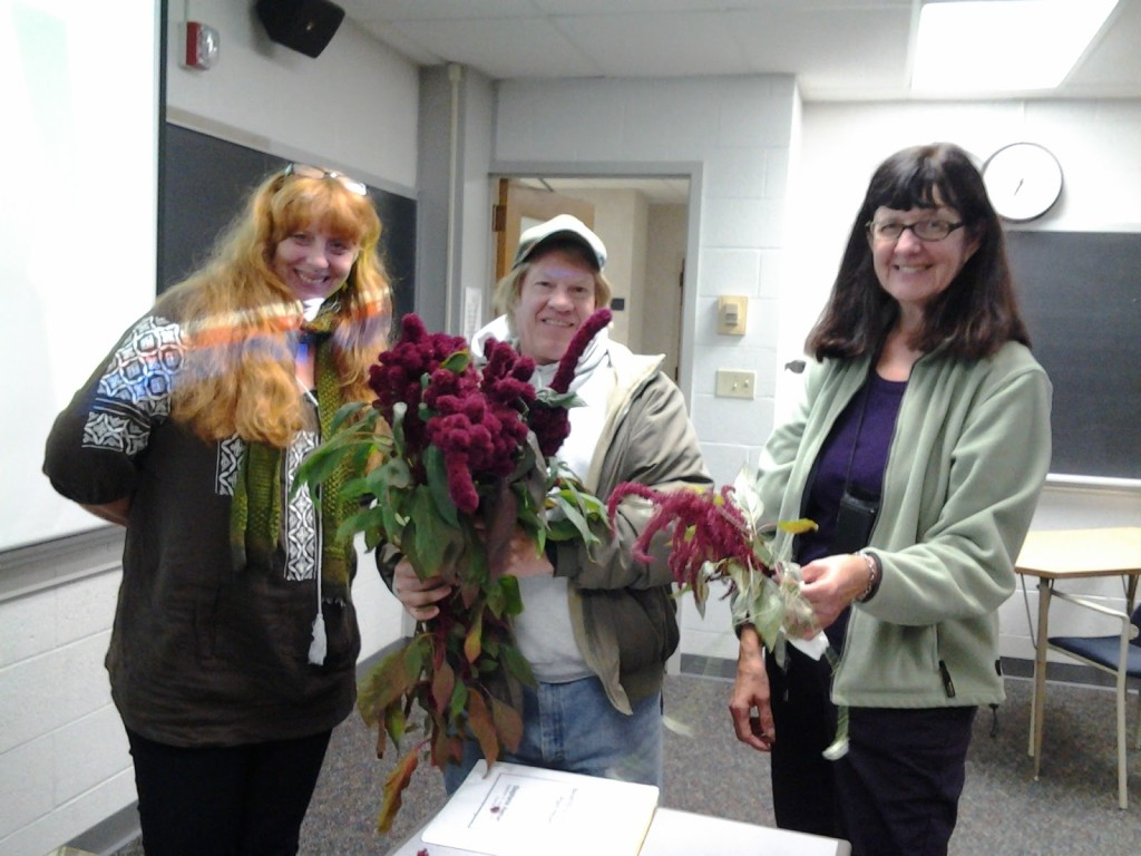 Stephanie Aleman and members of the class Ethnobotany of Central Wisconsin.