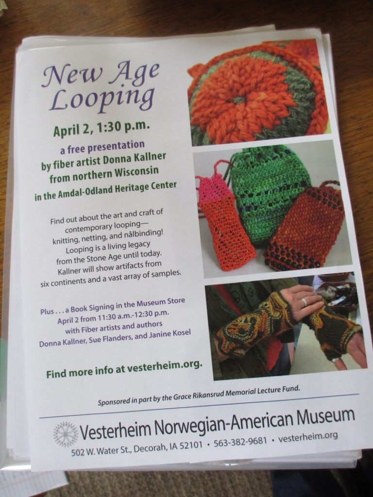 New Age Looping lecture at Vesterheim.