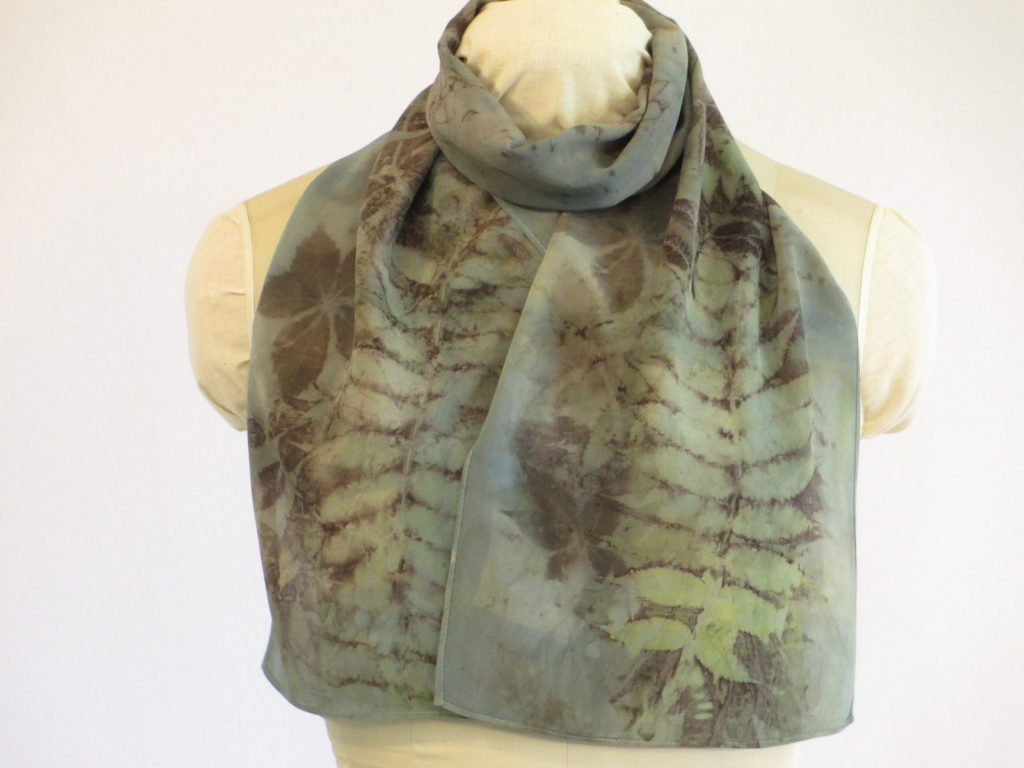 Botanical print scarf from my etsy shop at https://www.etsy.com/listing/480107880/silk-scarf-eco-fashion-plant-dyed.