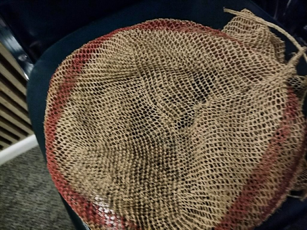 Base of string bag from Margaret Smith.